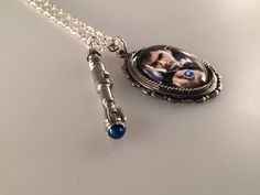 Doctor Who Necklace, 10th Doctor Sonic Screwdriver Charmed Interpreted Necklace, David Tennant Necklace
