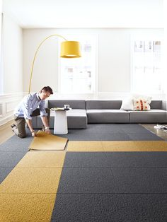 Good ... To Completely Customize The Flooring In Their Home.   Allie Weissu0027s  Ditch The Area Rug: This Easy, Modular Carpet System Has Serious Green Cred  Design ... Images