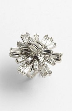 Sparkly cocktail ring #bling