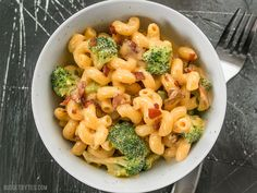 broccoli bacon mac & cheese - make without the bacon!
