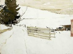 """""""Not Plowed"""" by Andrew Wyeth, 1980"""