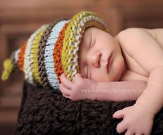 boy's knit hat with colourful stripes.  size by SarahLamont, $32.00