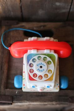 chatter phone from Fisher Price - My baby sister's favourite toy... A longggg time ago but I still remember the sound of it and the moving eyes as she dragged it along!