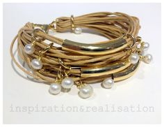 inspiration and realisation: DIY fashion blog: DIY cord, tubes and pearls bracelet pt.2
