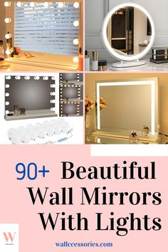 Ever wanted a dressing room that makes you feel like a celebrity? Be sure to grab yourself a wall mirror with lights and transform your home now! There are lots of different designs to choose from. Find yours now! Lighted Wall Mirror, Wall Mirrors, Mirror With Lights, Finding Yourself, Make It Yourself, Beautiful Wall, Dressing Room, Celebrity, Wall Decor
