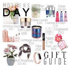 """Mothers Day Gift Guide"" by zoesherlock on Polyvore featuring Fitbit, Pier 1 Imports, Pavilion Broadway, Marc Jacobs, Estée Lauder, Essie, NARS Cosmetics, Crabtree & Evelyn, philosophy and Tom Dixon"