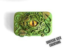 Dragon Eye Jewelry Box / Treasure Tin by SiouxsieSixxCreation