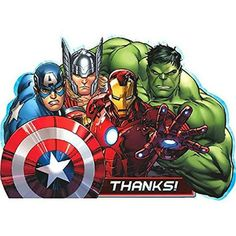 """Avengers Assemble Happy Birthday Streamer Banner 48/"""" Long Party Supplies NEW"""