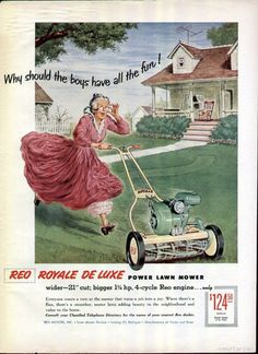 1955 Vintage Fairbanks Morse Riding Lawn Mower Ad