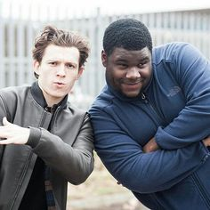 """[NEW] Tom and his friend Tuwaine!  """"@tomholland2013: Mixtape dropping in a couple days. Photo credit: the legendary @harryholland64""""  @tomholland2013   #tomholland"""
