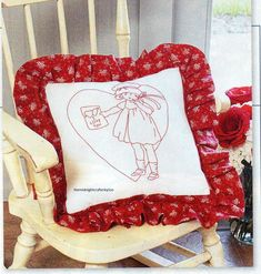 Valentine Girl Quilt Pattern Pieced/Embroidery/Redwork JC Pillow Patterns, Quilt Patterns, Girls Quilts, Finding Yourself, Heart Quilts, Throw Pillows, Embroidery, Toss Pillows, Needlepoint