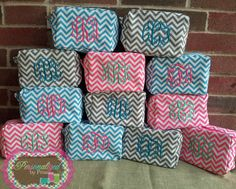 Monogrammed Makeup Bags  Set of 9 by PersonalizedbyPriss on Etsy, $180.00