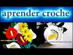 CROCHE FLASHBACK - CAULE E FOLHAS PARA A FLOR COPO-DE-LEITE - YouTube