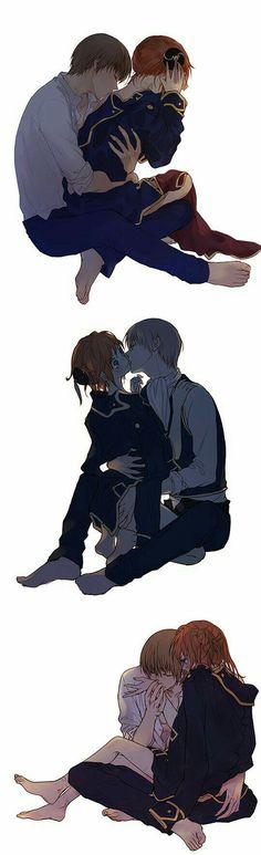 Girls Anime, Anime Couples Manga, Cute Anime Couples, Anime Kiss, Anime Art, Manga Anime, Couple Manga, Anime Love Couple, Okikagu Doujinshi