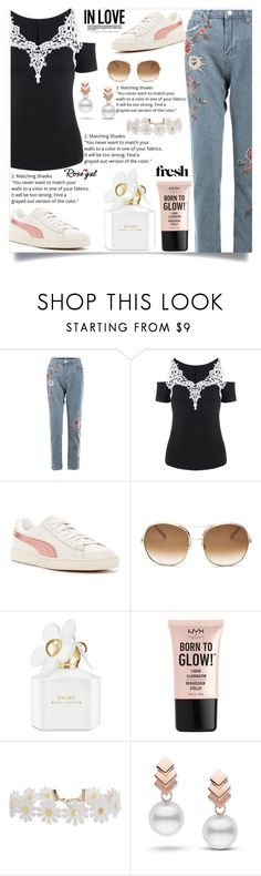 """""""Rosegal  31"""" by mell-2405 ❤ liked on Polyvore featuring Puma, Chloé, Marc Jacobs, NYX, Humble Chic, Escalier, Summer, dress, promotion and rosegal"""