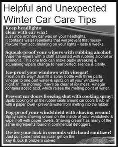 Winter Car Care Tips #tiptuesday #tips