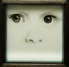 Miriam Di Fiore Silence, 2006, detail; fused glass; 12 inches square