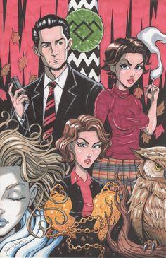 Twin Peaks By Josh Howard Comic Art
