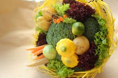 'Very good' vegetables bouquet