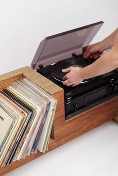 Record Player Console by cushdesignstudio on Etsy