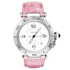 Cartier Stainless Steel Pasha Automatic Wristwatch