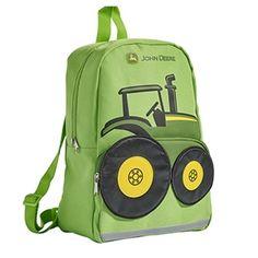 Toddler Boys Lime Green John Deere Backpack | WeGotGreen.com
