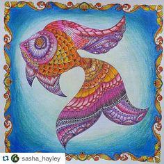 Peixinho mega lindo by  @sasha_hayley  #lostocean  #oceanoperdido  #desenhoscolorir  #johannabasford