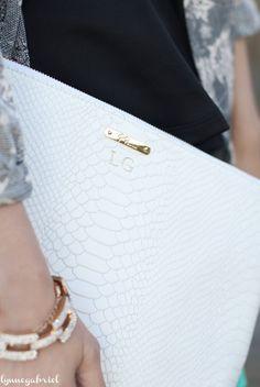GiGi New York | Lynne Gabriel Fashion Blog | White Uber Clutch