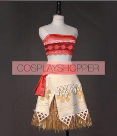 Disney Movie Moana (Auli'i Cravalho) Cosplay Costume - Version Two Disney Cosplay Costumes, Cosplay Wigs, Halloween Costumes, Moana Costumes, Maui Cosplay, Best Cosplay, Halloween Disfraces, Princess Party, Lolita Fashion