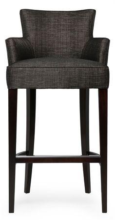 Elegant Gray Upholstered Bar Stools