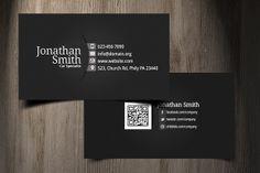 Balck-Grey Personal Business Card ~ Business Card Templates on Creative Market