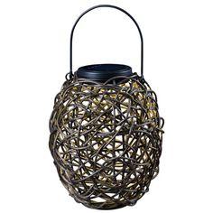 Tangle Black Solar Lantern