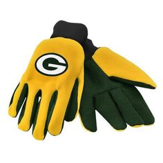 Green Bay Packers Official NFL 2015 Ulitity Gloves - Colored Palm