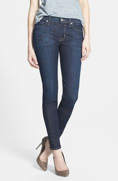 Hudson Jeans Mid Rise Skinny Jeans (Skyline) available at #Nordstrom