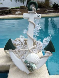 Nautical Design - Instead of a Christmas Wreath I would use this up north at Matilda II - change the colors a bit to match. « Ibdesignsusa Weblog