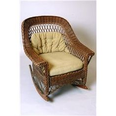 Vintage+Wicker+Rocking+Chair+Vintage+Rocker+by+PineCottageVintage    Furniture   Pinterest   Rocking Chairs, Wicker Furniture And Porch