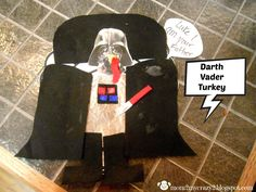 The Great Turkey Disguise ... Darth Vader Running away? I'll help you pack