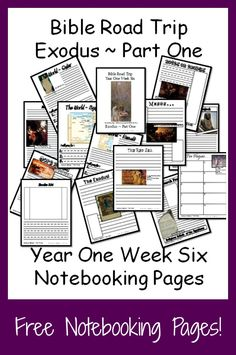 {Free Printable Notebook Pages} Bible Road Trip ~ Year One Week Six