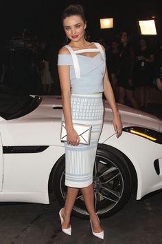 Miranda Kerr on Red Carpet - Jaguar F-Type Global Reveal Event at Raleigh Studios in Playa Vista - CelebMafia