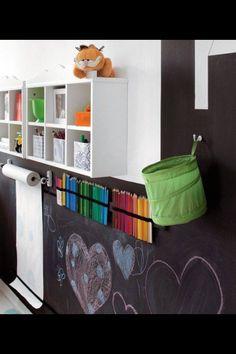 Craft area in playroom idea