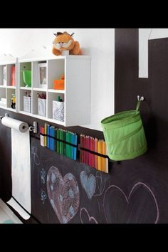 Craft area in playroom idea