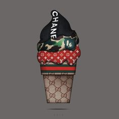 The most expensive ice cream cone on earth‼️‼️ Tag the biggest Hypebeast! Gucci Wallpaper Iphone, Supreme Iphone Wallpaper, Chanel Wallpapers, Hype Wallpaper, Fashion Wallpaper, Cute Wallpapers, Most Expensive Ice Cream, Mode Poster, Chanel Art