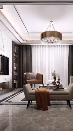 Luxury Living Room, Luxury Living Room Design, Bedroom Decor For Couples, Living Room Design Decor, Luxury House Designs, Home Interior Design, Ceiling Design Living Room, House Interior Decor, Living Room Design Modern