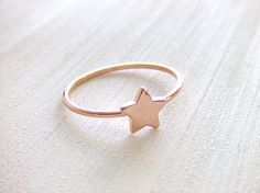 Little Star Jewelry Ring, 16K Rose Gold Plated, Simple Ring, Gift for Her, Under 10 by twinpearlsjewelry on Etsy https://www.etsy.com/listing/154195765/little-star-jewelry-ring-16k-rose-gold