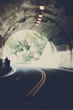 Light at the end of the tunnel. Open road, young hearts loving fearlessly. Just you and me <3 sayang, let's go!