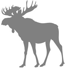 Image result for moose antlers silhouette