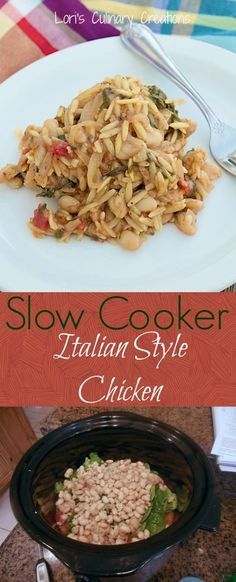Slow Cooker Italian Style Chicken. You'll make this again & again. www.lorisculinarycreations.com