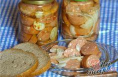 Utopenți - cel mai bun pe care-l cunosc NejRecept. Czech Recipes, Food 52, Pretzel Bites, Sausage, Bread, Cheese, Vegetables, Syrup, Canning