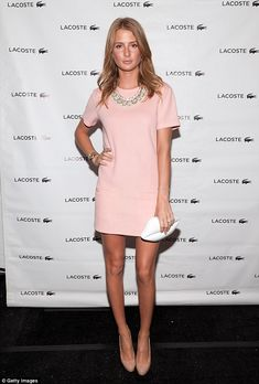 Natural beauty: Millie Mackintosh puts in an appearance at Lacoste's Spring/Summer 2015 sh...