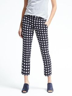 Avery-Fit Gingham Pant